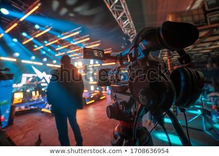 Film producent polu ekranu biały pokładzie Zdjęcia stock © photography33