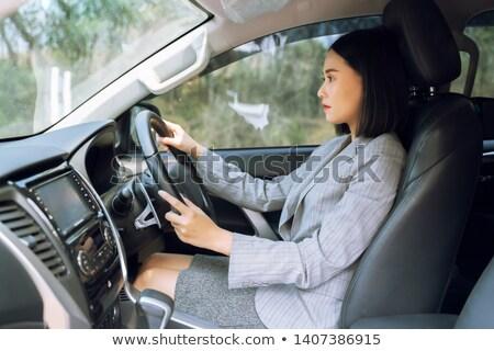 dziewczyna · jazdy · licencja · twarz · włosy · portret - zdjęcia stock © photography33