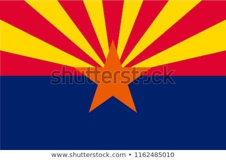 Arizona Flagge groß Illustration USA Banner Stock foto © tony4urban