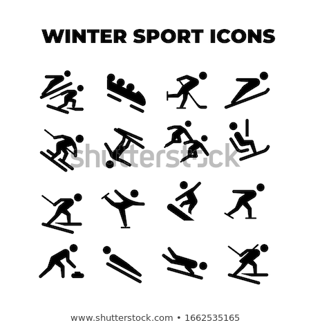 Equestrian Jumping Pictogram Stock photo © zooco