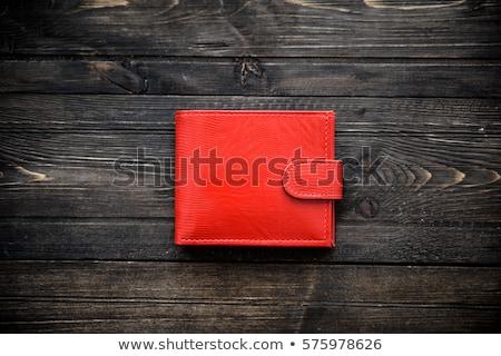 Piros pénztárca pénz hitelkártya Stock fotó © devon