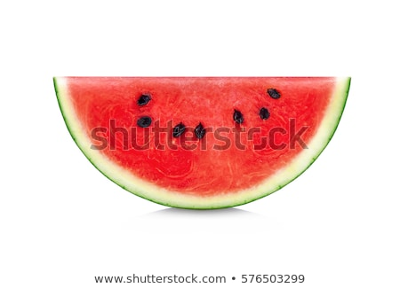 Slice of Watermelon isolated on white Stock photo © bloodua