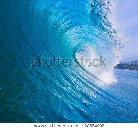 Large surfing wave breaks in the ocean stock photo © ozaiachin