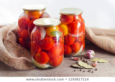 augurken · voedsel · groenten · glas · jar · tabel - stockfoto © ssuaphoto