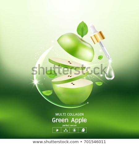 yeşil · elma · şırınga · yalıtılmış · beyaz · meyve - stok fotoğraf © ozaiachin