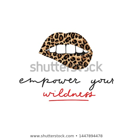 print of lips stock photo © arlatis