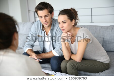 architect and family discussing house plans stock photo © photography33