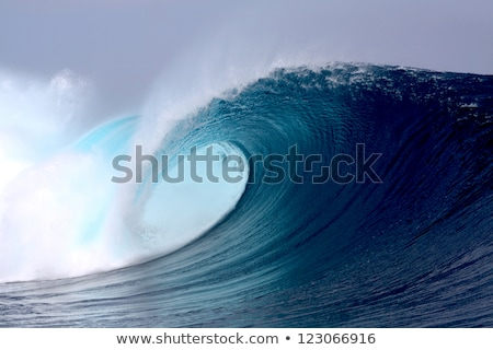 large blue surfing wave stock photo © ozaiachin
