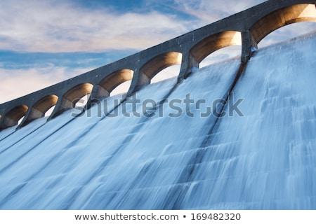 具体的な · 壁 · 建設 · 技術 · 山 · 湖 - ストックフォト © witthaya