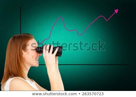Charismatic businesswoman predicting future success  Stock photo © wavebreak_media