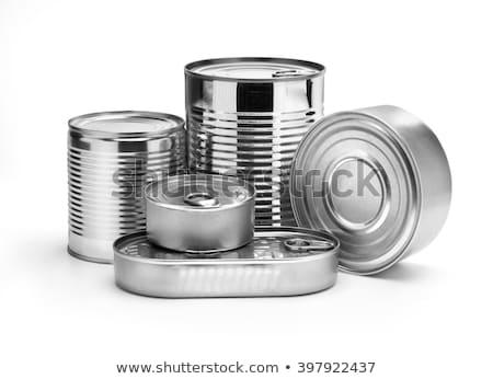 gıda · kalay · can · kutu · çelik - stok fotoğraf © inxti