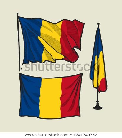 румынский флаг рисунок иллюстрация изолированный рисованной Сток-фото © marinini