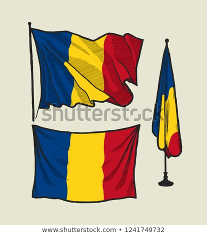Romanian flag drawing Stock photo © marinini