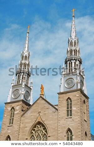 Heykel katedral bazilika Ottawa Kanada Stok fotoğraf © bigjohn36