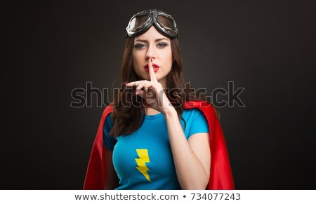 woman making silence sign Stock photo © feedough