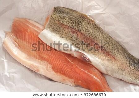 świeże tęczy pstrąg jeden biały ryb Zdjęcia stock © Antonio-S