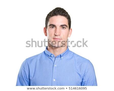imprenditore · sorridere · bianco · sfondo · executive - foto d'archivio © wavebreak_media