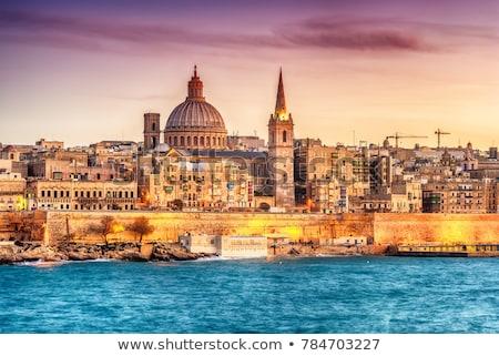 Foto stock: Beco · cidade · Malta · europa · céu