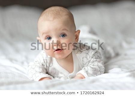 Pozitív fiú 5 éves gyermek kék szín Stock fotó © Elegies