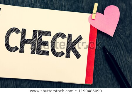 Holding Checkbox Or Check Box Showing Approval Or Checked Stock photo © stuartmiles