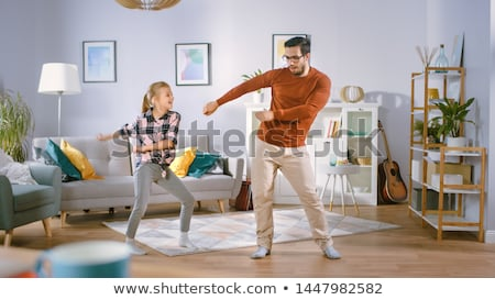 Heureux petite fille danse peu enfant fille Photo stock © godfer