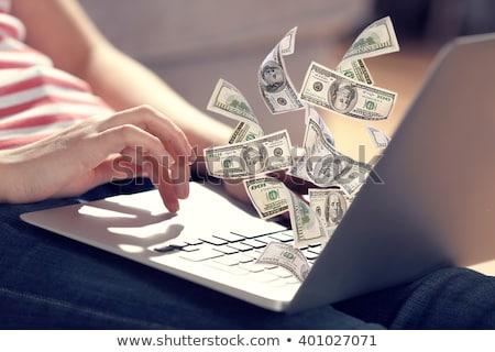 Computer geld internet betaling creditcards laptop Stockfoto © Roka