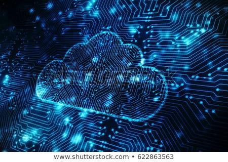 Felhő alapú technológia szerverek számítógép laptop zöld ötlet Stock fotó © 4designersart