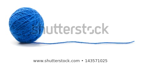 blue ball of yarn stock photo © grafvision