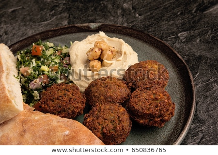 hummus and falafel Stock photo © M-studio