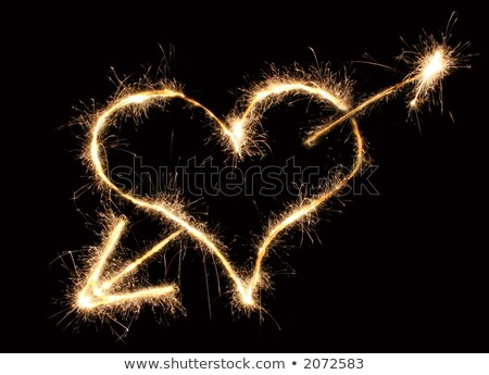 heart and arrow sparkler Stock photo © Paha_L