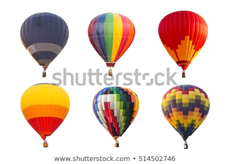 set of colorful hot air balloon isolated on white background stock photo © tungphoto