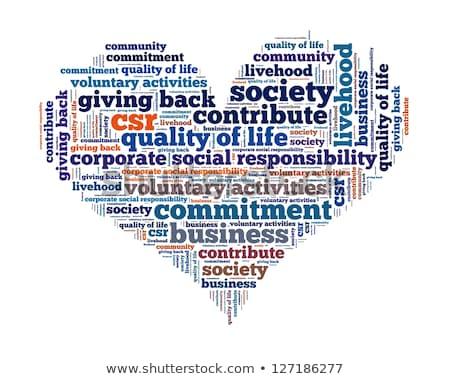 Corporate sociale verantwoordelijkheid woord collage achtergrond Stockfoto © dacasdo