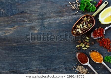 Stok fotoğraf: Baharatlar · ahşap · gıda · meyve · mutfak