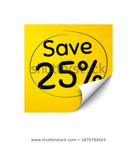 Сток-фото: Yellow Paper Note With Text Special Offer