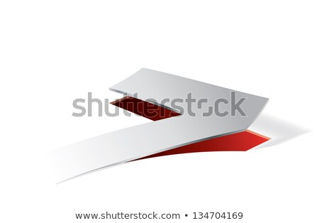Paper folding with number 7 in perspective view Stock photo © archymeder