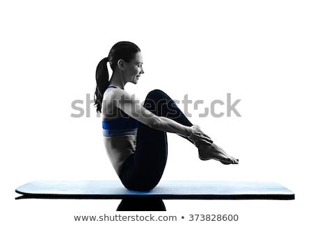 ピラティス アクション 女性 少女 女性 幸せ ストックフォト © darkkong