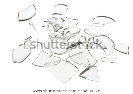 Fragments glass crashed object. 3D rendering Stock photo © cherezoff