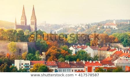 ストックフォト: 表示 · プラハ · 城 · 秋 · 庭園 · 楽園
