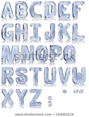 Mektup i buz alfabe dışarı su kar Stok fotoğraf © homydesign