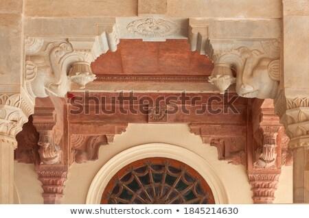 Photo stock: Porte · ambre · fort · principale · entrée · magnifique