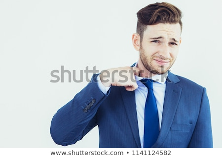 бизнесмен · галстук · мнение · черный · костюм · моде · работу - Сток-фото © jackethead