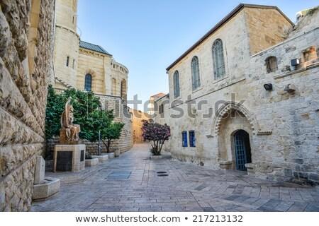 starożytnych · domów · kwartał · Jerozolima · Izrael · ulicy - zdjęcia stock © alexeys