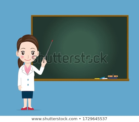 man with blackboard stock photo © stokkete