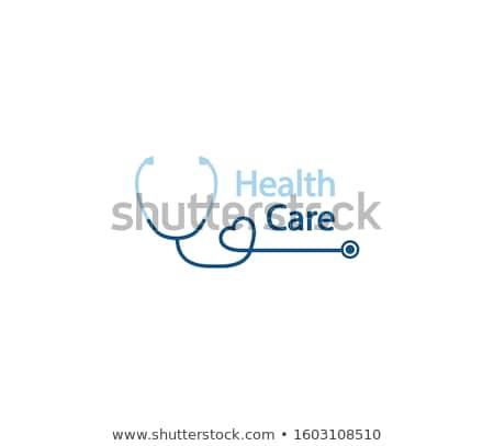 логотип · сердце · стетоскоп · Элементы · изолированный - Сток-фото © Miloushek