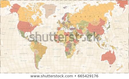 mapa · do · mundo · ilustração · 3d · globo · mundo · terra - foto stock © axstokes
