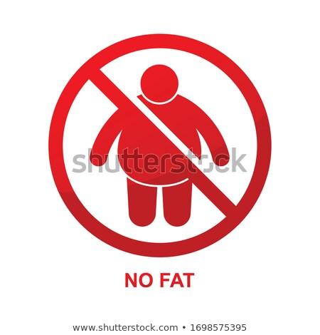 Erkekler değil izin imzalamak örnek dizayn Stok fotoğraf © alexmillos
