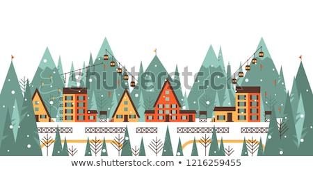 Skiing fence Stock photo © bigandt