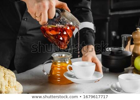 Garçom jarro vidro mãos festa Foto stock © amok