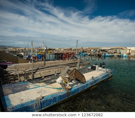Oysters shacks in Port Leucate, France Stock photo © Nejron