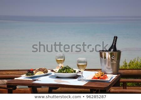 Plaka deniz yemek açık plaj gökyüzü Stok fotoğraf © Ainat